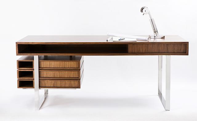 maple and walnut boxeo desk