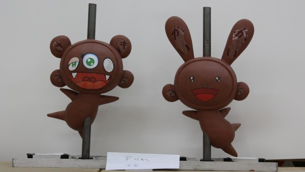 clay molds of Murakami's balloons for Thanksgiving Parade