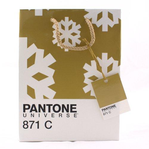 gold pantone christmas bag