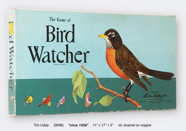 painting of Bird Watcher board game