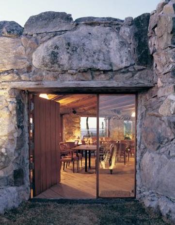 Outdoor Interiors Natural Stone Umbrella Base Sealee