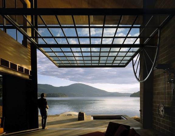chicken point cabin loft by Olson Kundig