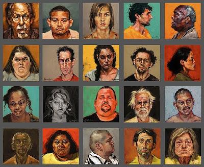 Mug Shot Paintings by Karin Jurick