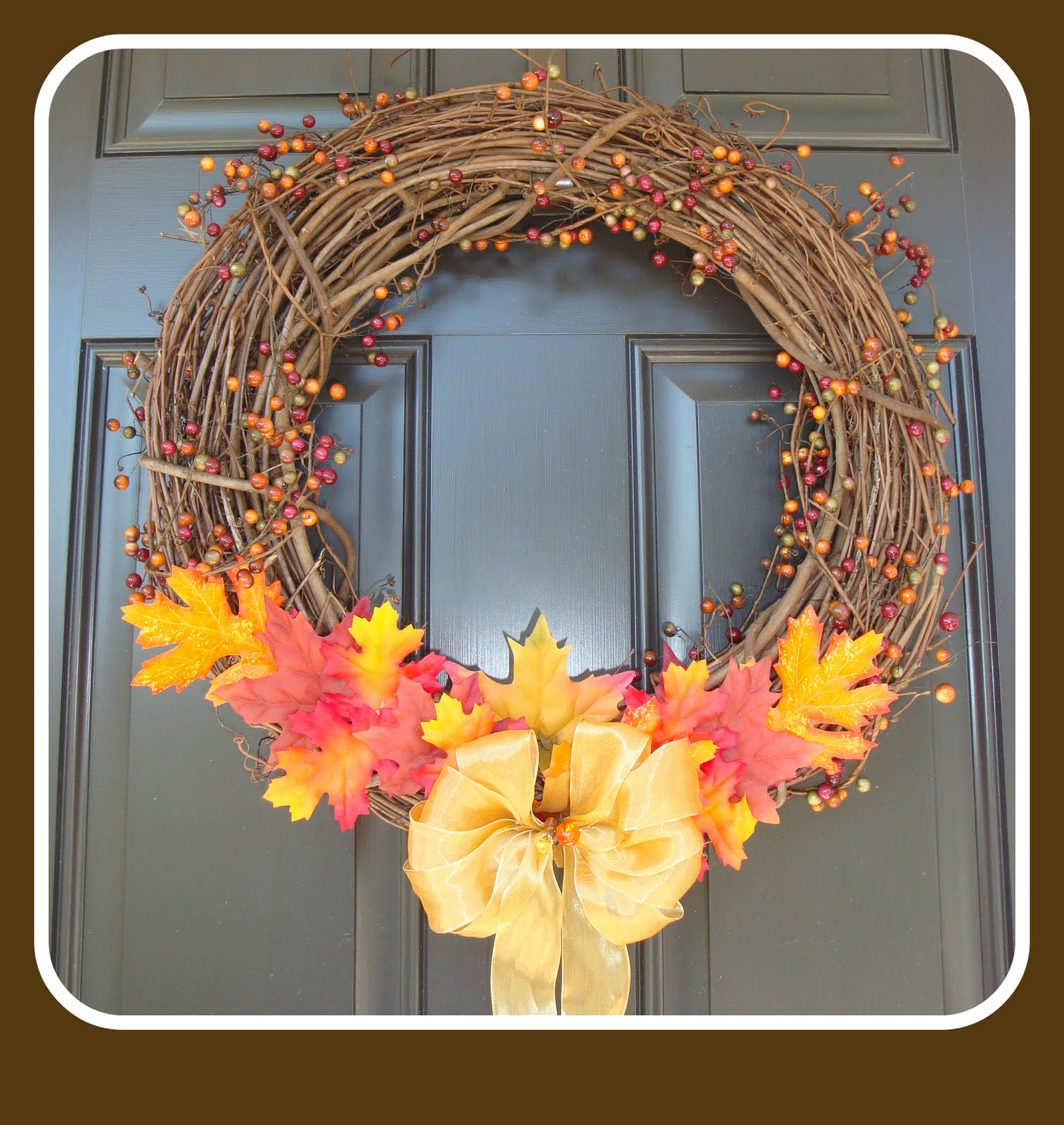 The Penny Parlor: A $5 Fall Wreath In 5 Minutes