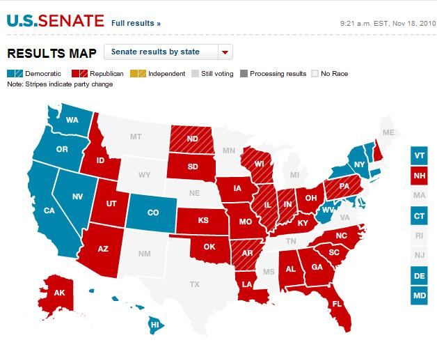2010 election results cnn map