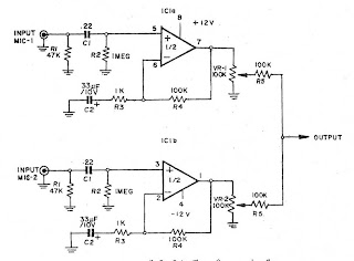 Pre MIC (microphone preamplifier) 2 CH by IC NE5532 or ...