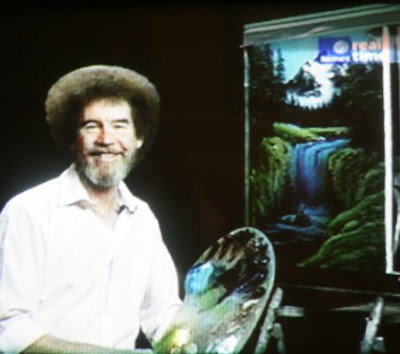 Bob Ross Gray And White Painting
