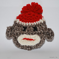 3-D Sock Monkey Applique