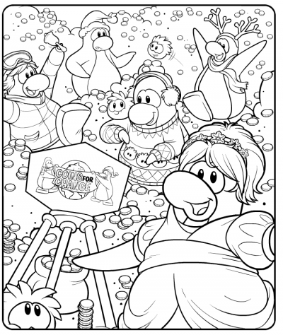Club penguin watch dog december 2010 for Club penguin christmas coloring pages