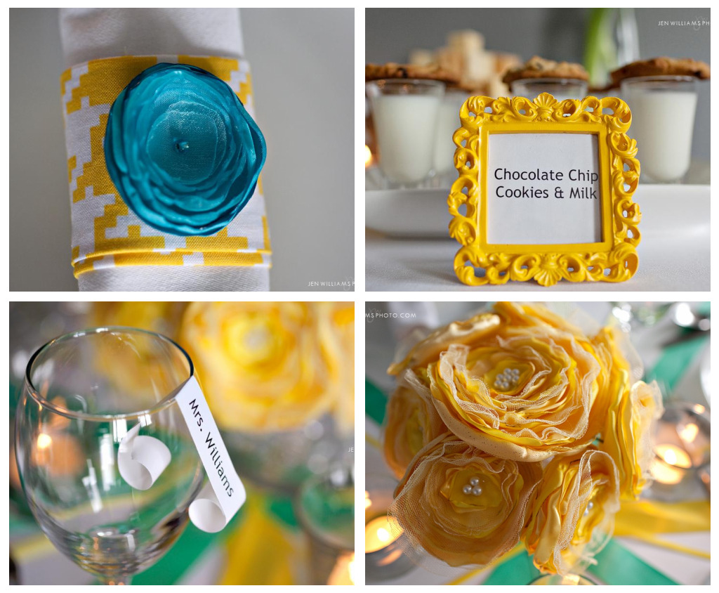 02de44c948917 Yellow & Teal Bridal Shower Ideas {guest feature} - Celebrations at Home
