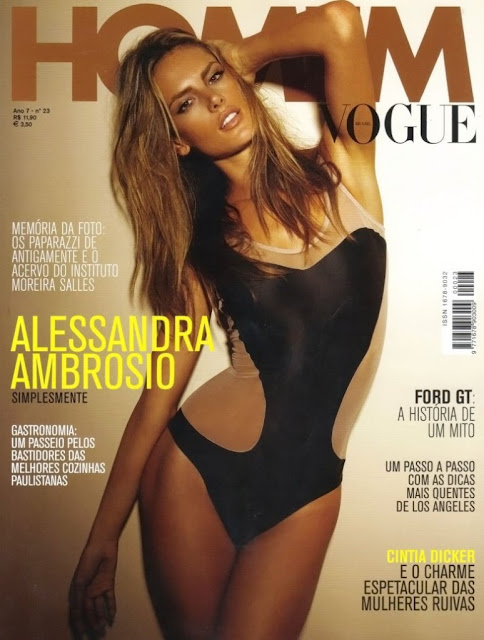 Alessandra Ambrosio Sizzles in Homm Vogue