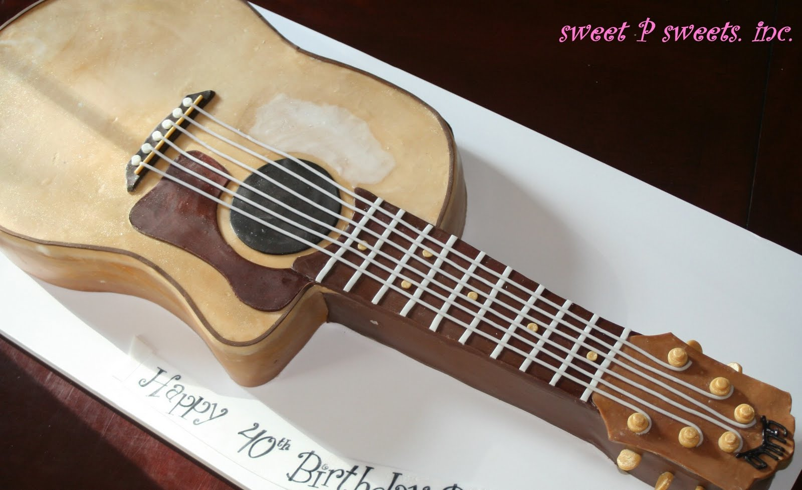 Guitar cake template for Guitar templates for cakes