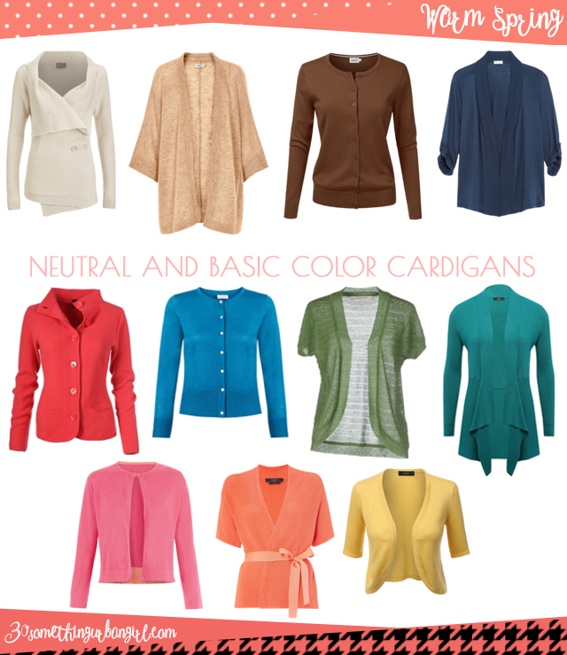 Wardrobe Essential: Neutral and basic color cardigans for Warm Spring women by 30somethingurbangirl.com