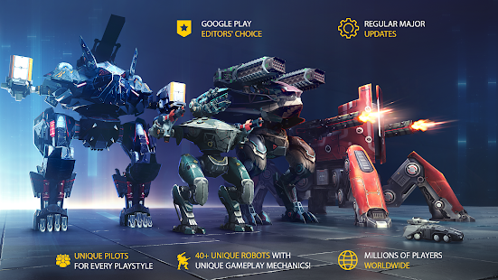 War Robots V5.5.0 MOD APK + OBB Unlimited Bullets Infinite Missiles For Android