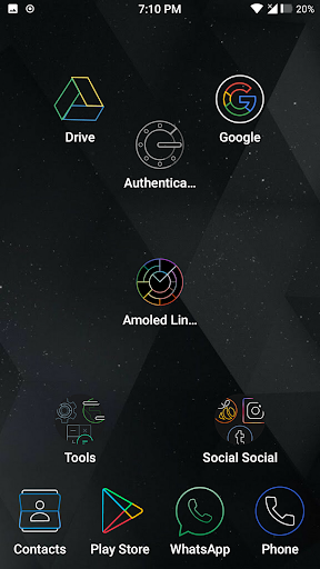 Amoled Lines Icon Pack