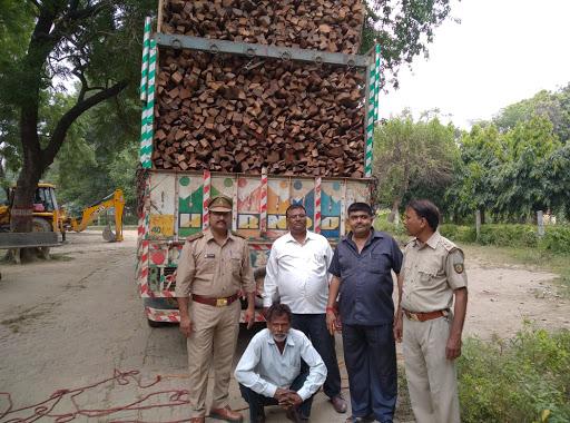 लगातार तीसरे दिन भी लकड़ी माफियाओं पर वन विभाग की कार्रवाई