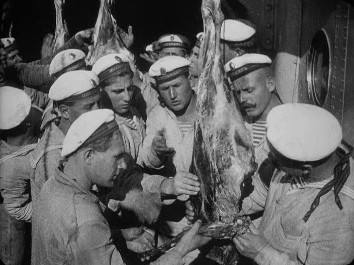 Escena de la carne podrida. Acorazado Potemkin 1