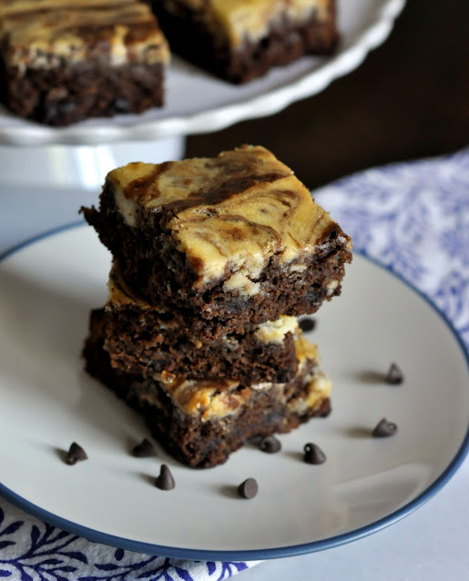 Chocolate Chip Marble Brownies