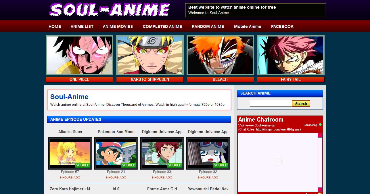 Top 10 english sub anime websites