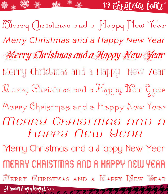 10 free and pretty Christmas fonts