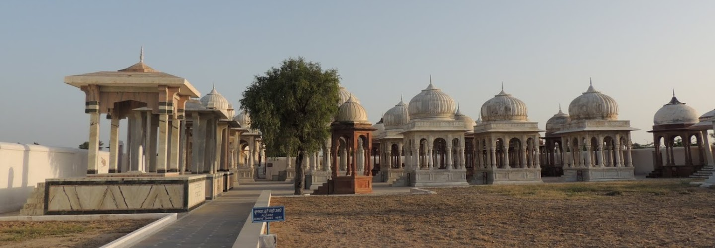 Cenotaphs at Devi Kund Sagar
