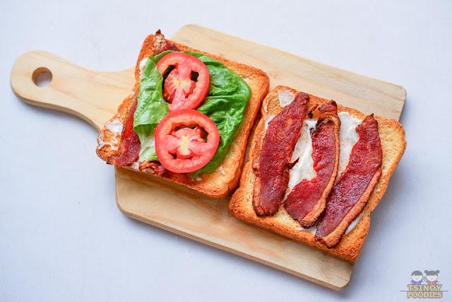 BLT sandwich duck bacon