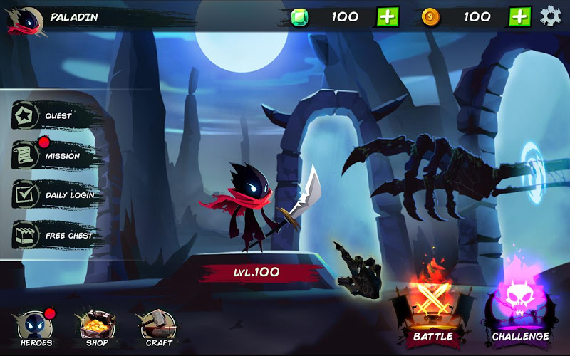 Playstore Screenshot of Shadow Stickman: Fight for Justice Screenshot