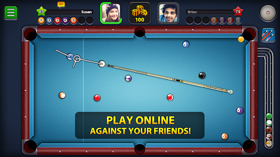 8 Ball Pool Mod APK Extended Stick Guideline For Android Gameplay Screenshot 1