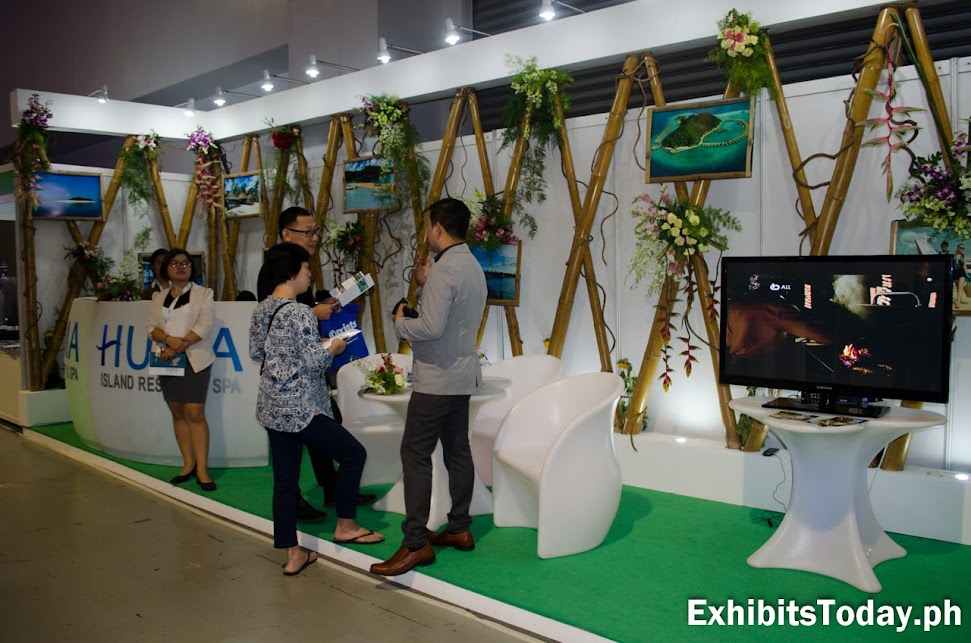 Huma Island Resort & Spa Exhibit Booth (left view)