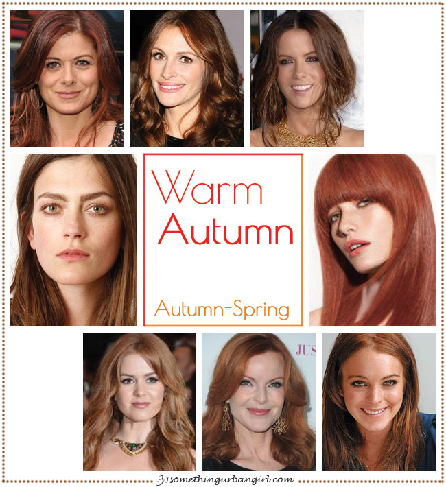 Warm Autumn, Autumn-Spring seasonal color celebrities by 30somethingurbangirl.com