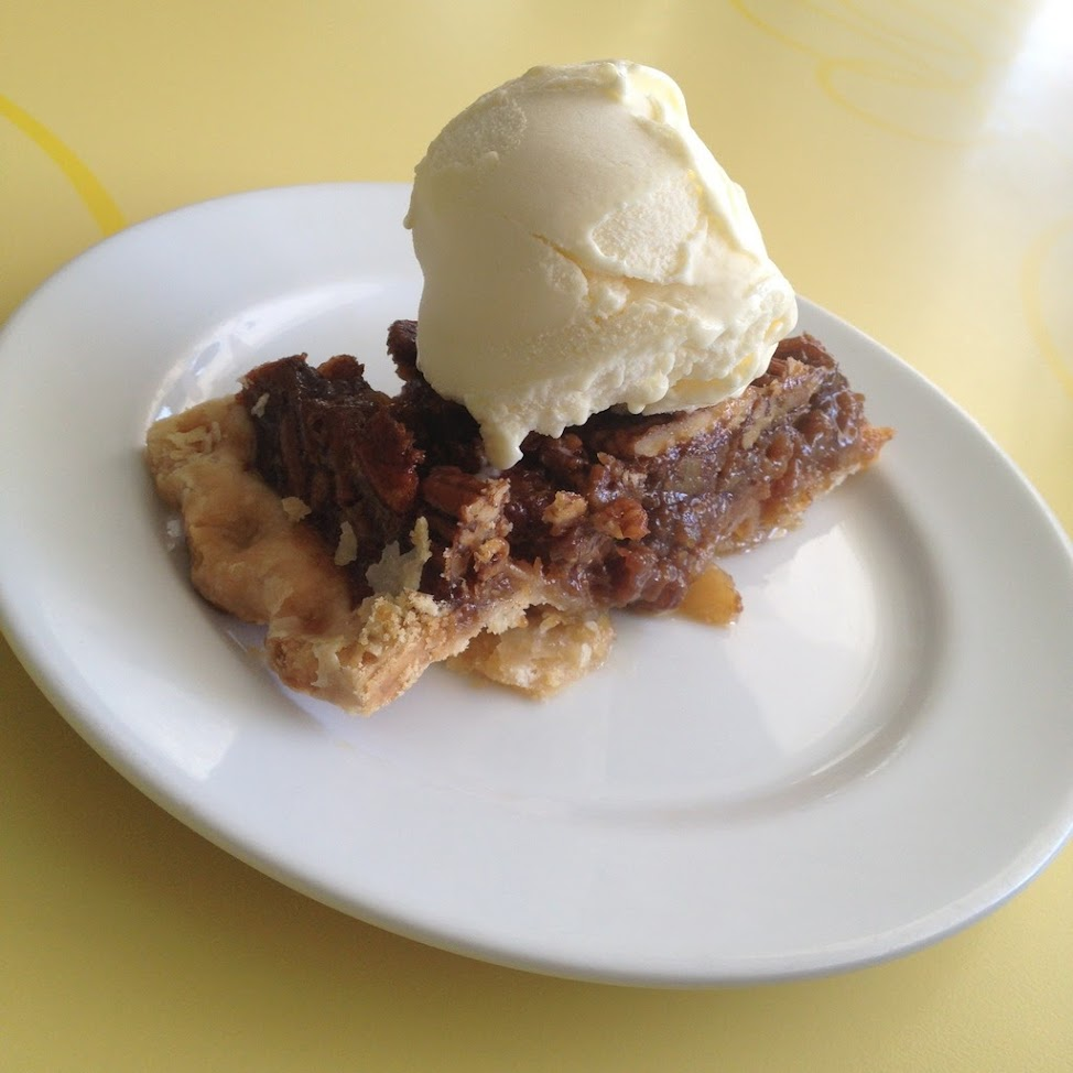 Pecan pie a la mode at Calea cakes and pastries