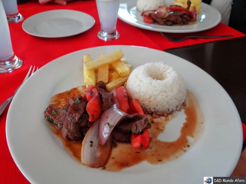 Lomo Saltado no Restaurante em Cusco - O que fazer em Cusco, Peru