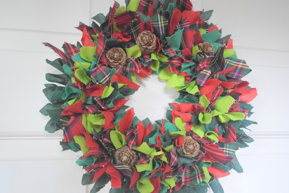 crafty creatives rag rug wreath