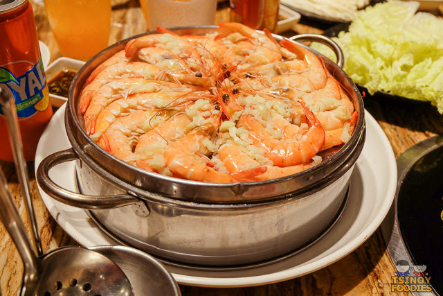 steamed shrimp