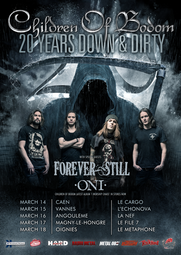 Children of Bodom + Forever Still + ONI @Tournée française 2017