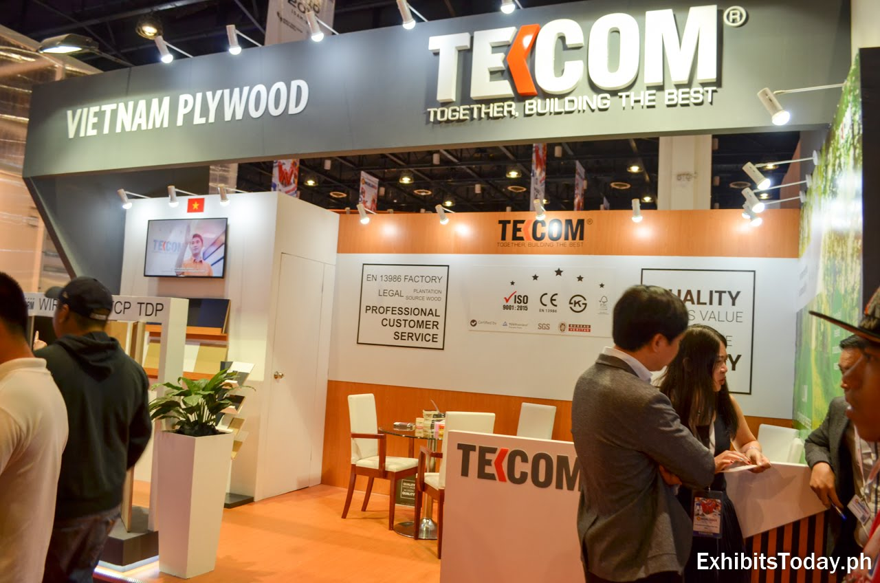 Tekcom exhibit booth