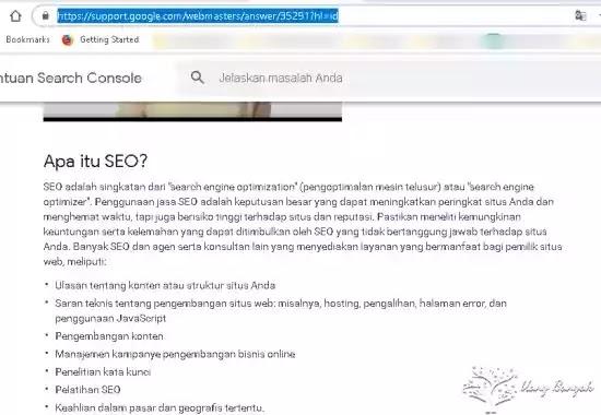 seo search engine optimization google support