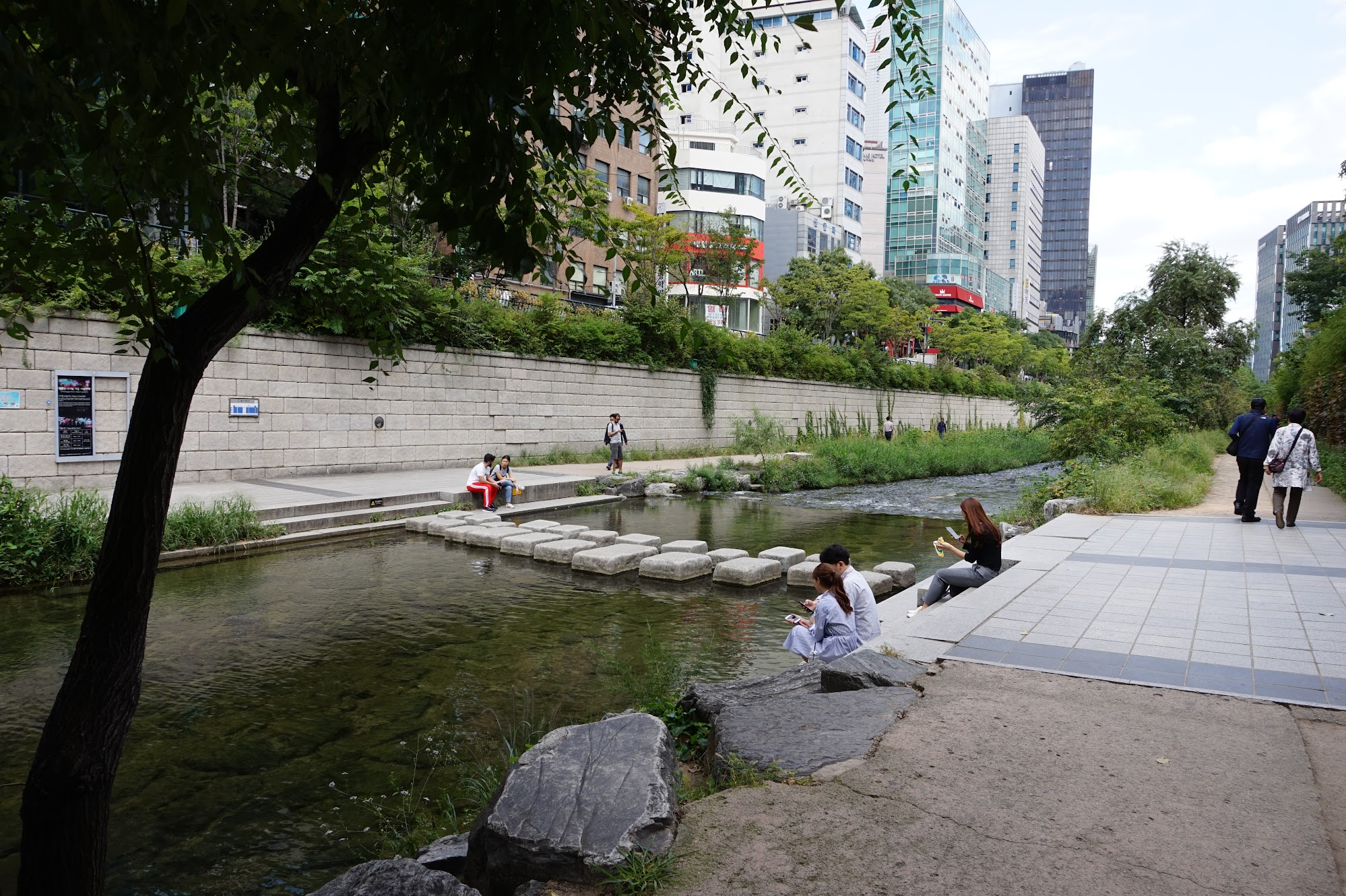 Seoul Cheonggyecheon stream South Korea travel trip solo female