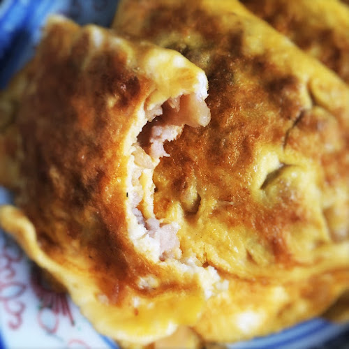 Egg Omelet, Minced Pork, Preserved Radish, 菜脯,  煎蛋角, chinese , recipe, choi poh, preserved turnip