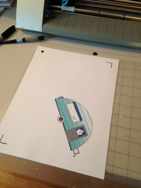 Silhouette Cameo, graphic design pack, camper, Silhouette cutting mat