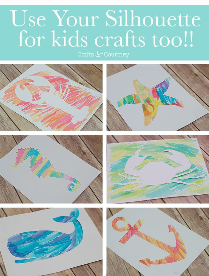 Kids Crafts, Kids, Silhouette for kids, Water Colors, Water Color Art