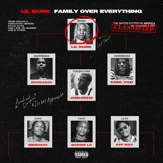 Only The Family & Lil Durk – ««Family Over Everything»». (Clean Album) [MP3-320KBPS]