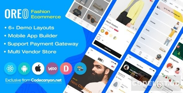 Oreo Fashion v2.1.1 - Full React Native App for Woocommerce