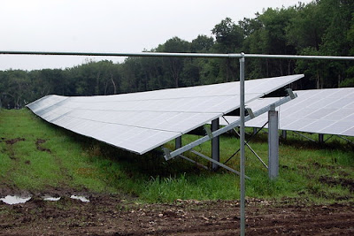 solar farm installation at St Mary's Abbey in 2013