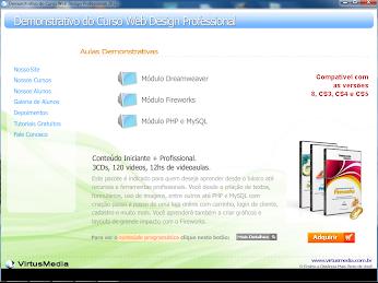 CURSO INTERATIVO DE WEB DESIGN PROFESSIONAL DEMONSTRAÇÃO