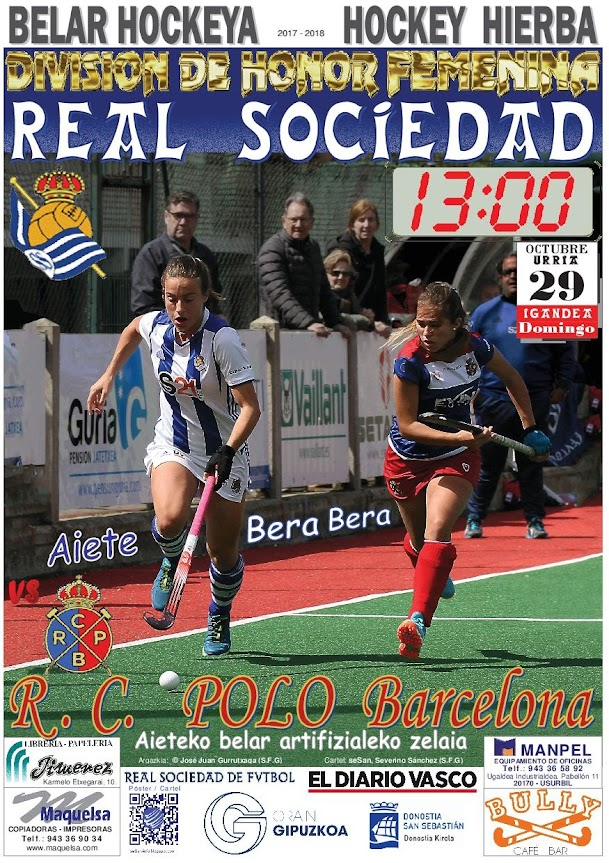 Cartel hockey 2017-10-29 Real Sociedad - R.C. POLO Barcelona