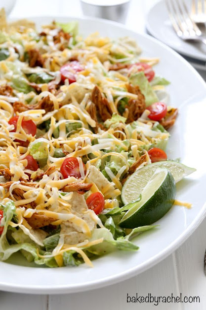 Chicken Enchilada Salad with Caesar Dressing | Photo Courtesy of Baked By Rachel
