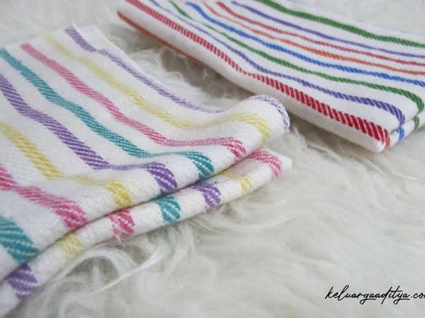 5 fungsi alas ompol bayi, si kain garis serbaguna