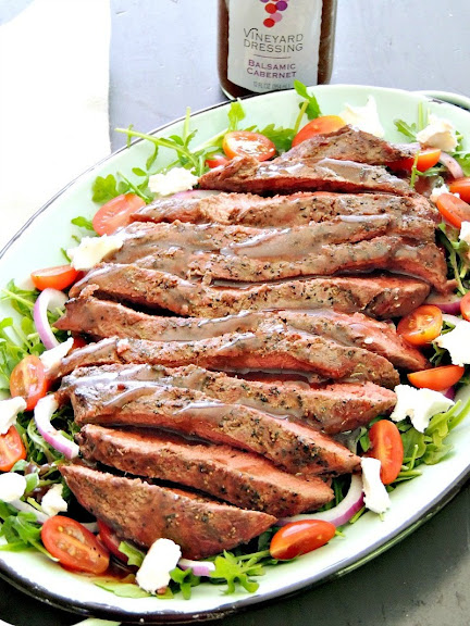 Grilled Steak Salad with Balsamic Cabernet Dressing | Photo Courtesy of Bobbi's Kozy Kitchen