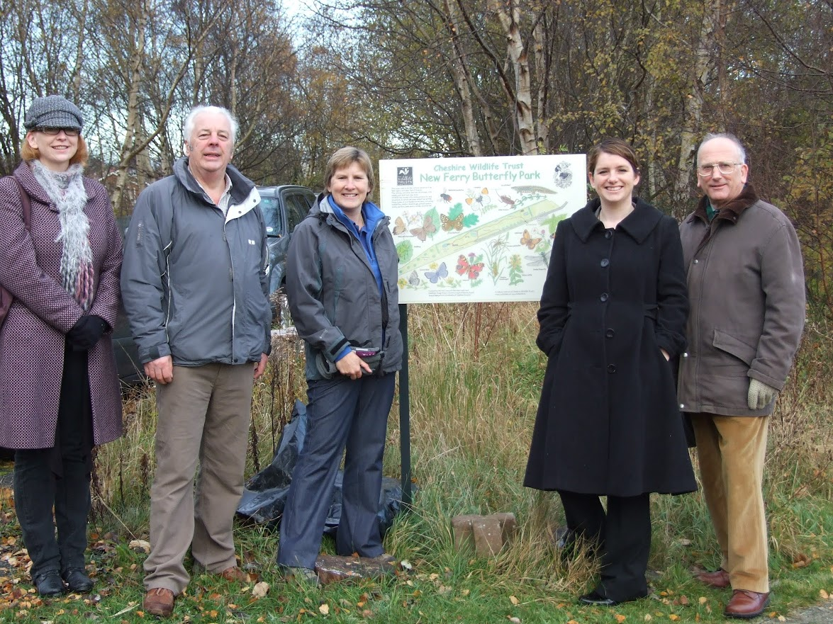 Alison McGovern MP (second right) at the Butterfly Park